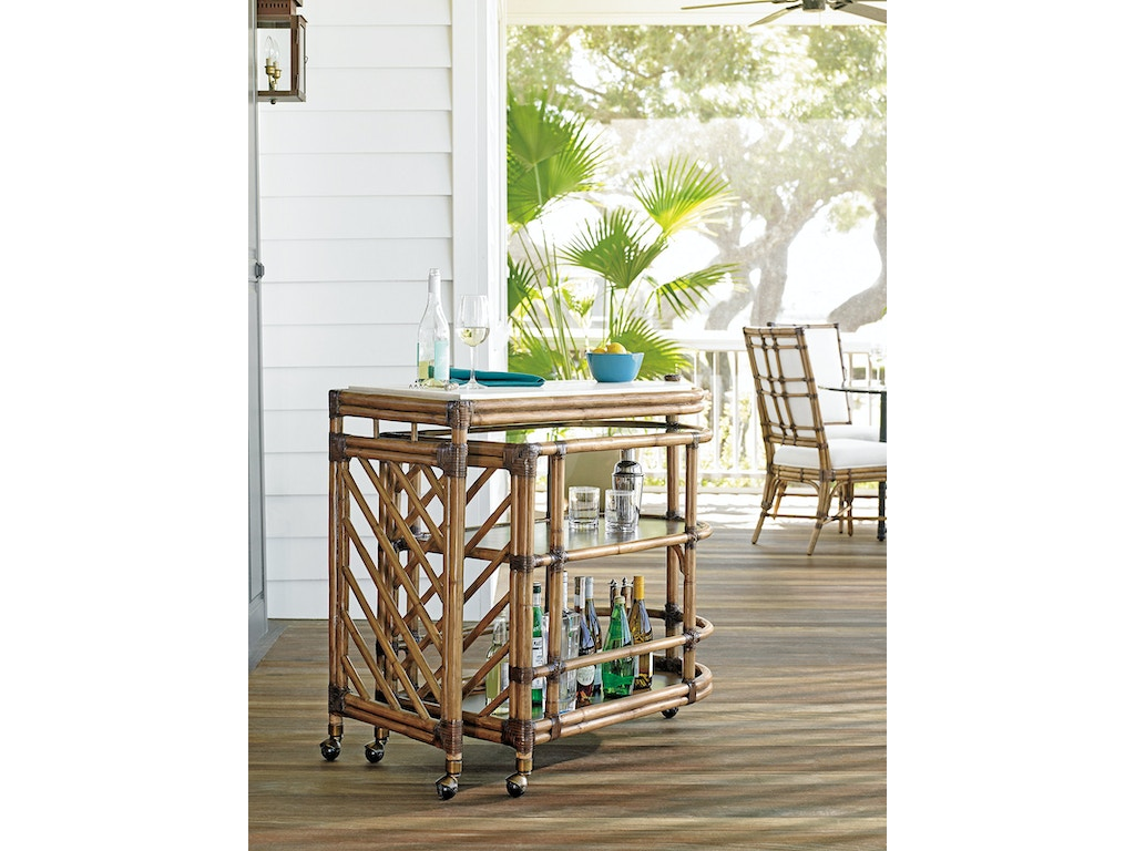 Tommy Bahama Home Bar and Game Room Cable Beach Bar Cart 558-862 ...