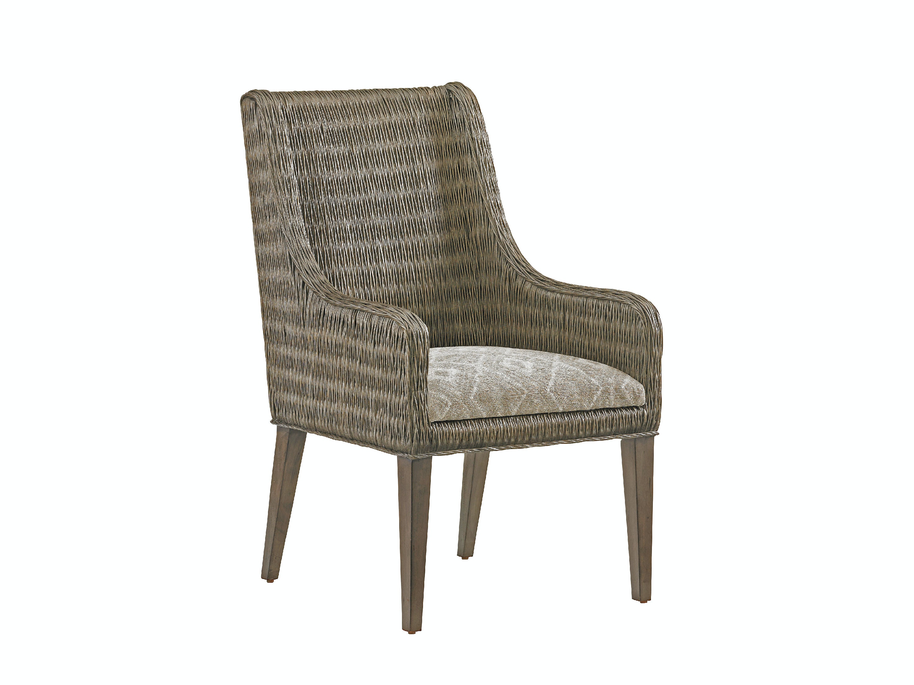 Tommy Bahama Home Dining Room Brandon Woven Arm Chair 562 883   Norris  Furniture   Fort Myers, Naples, Sanibel And Sarasota, FL