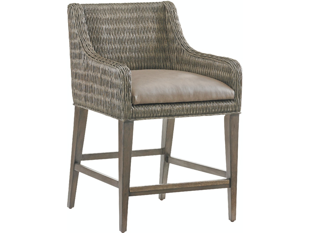 Tommy Bahama Home Bar And Game Room Turner Woven Counter Stool 562 895 01 Stowers Furniture