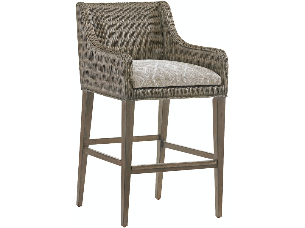 Tommy bahama home bar and game room turner woven bar stool for Home bar furniture in san antonio