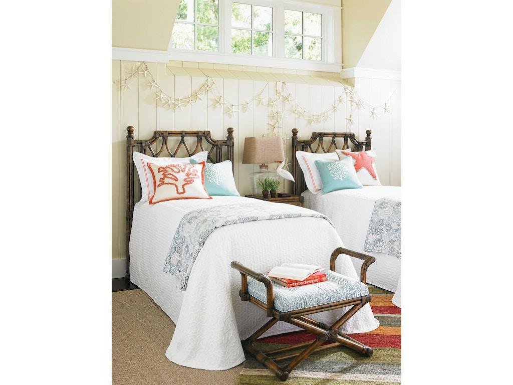 Tommy Bahama Home Bedroom Island Breeze Rattan Headboard 3 3 Twin 593 131hb Tuskers Furniture
