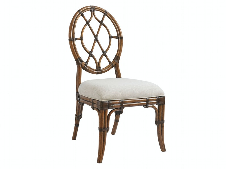 Tommy Bahama Home Cedar Key Oval Back Side Chair 593-886-01