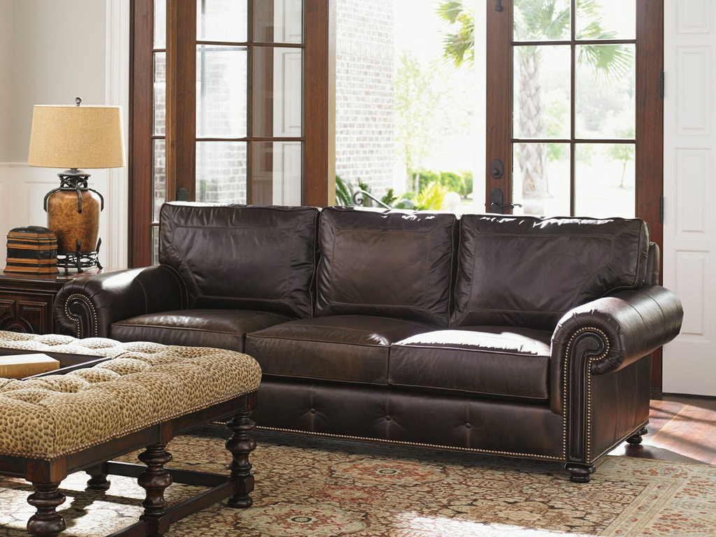 Tommy Bahama Home Riversdale Leather Sofa Ll7998 33