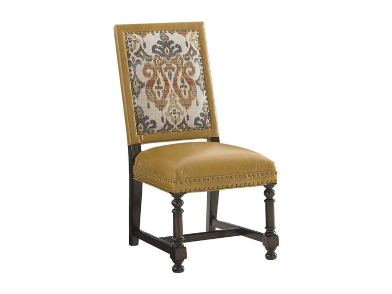 Tommy Bahama Home Jacqueline Leather Hostess Dining Chair LL1210-12