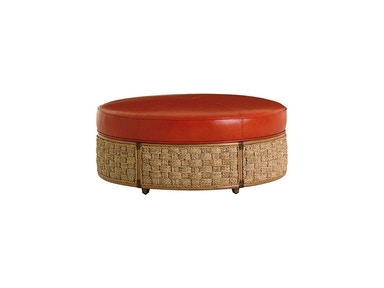 Tommy Bahama Home St. Barts Leather Ottoman
