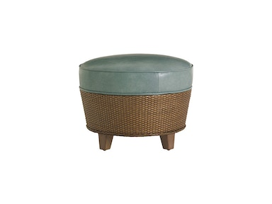 Tommy Bahama Home Lago Mar Leather Ottoman