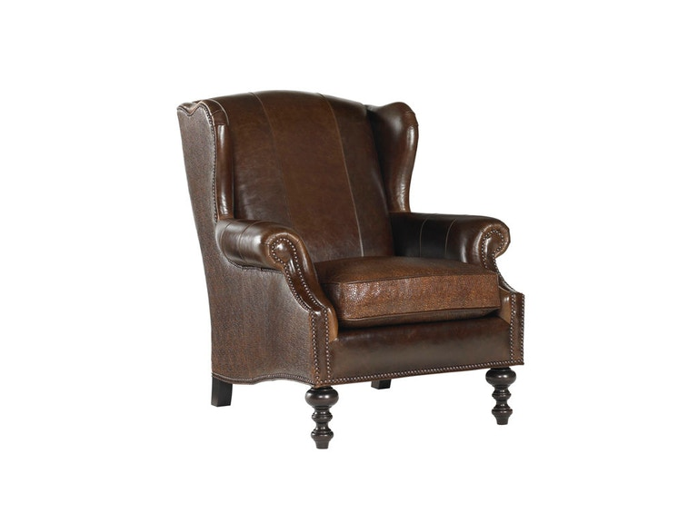 Tommy Bahama Home Batik Leather Wing Chair LL7155-11