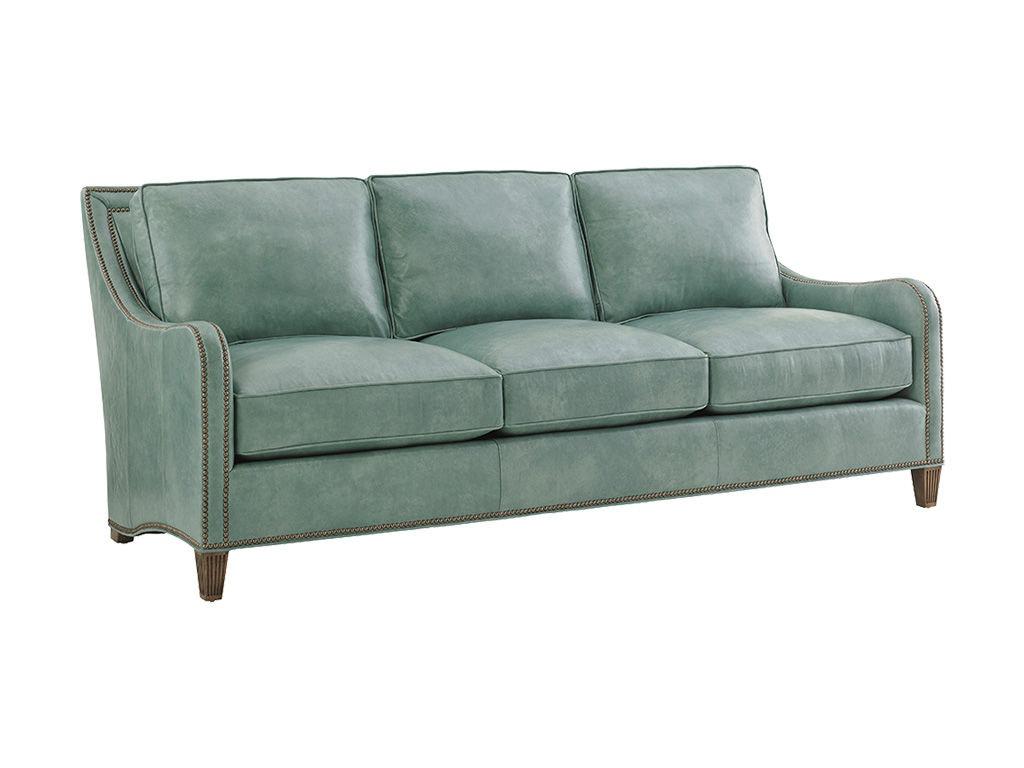 Tommy Bahama Home Living Room Koko Leather Sofa