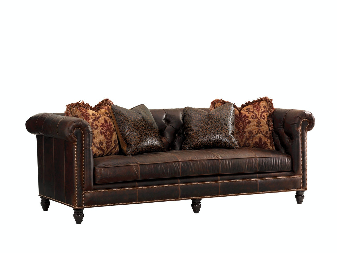 Tommy Bahama Home Manchester Leather Sofa LL7994 33AA ...