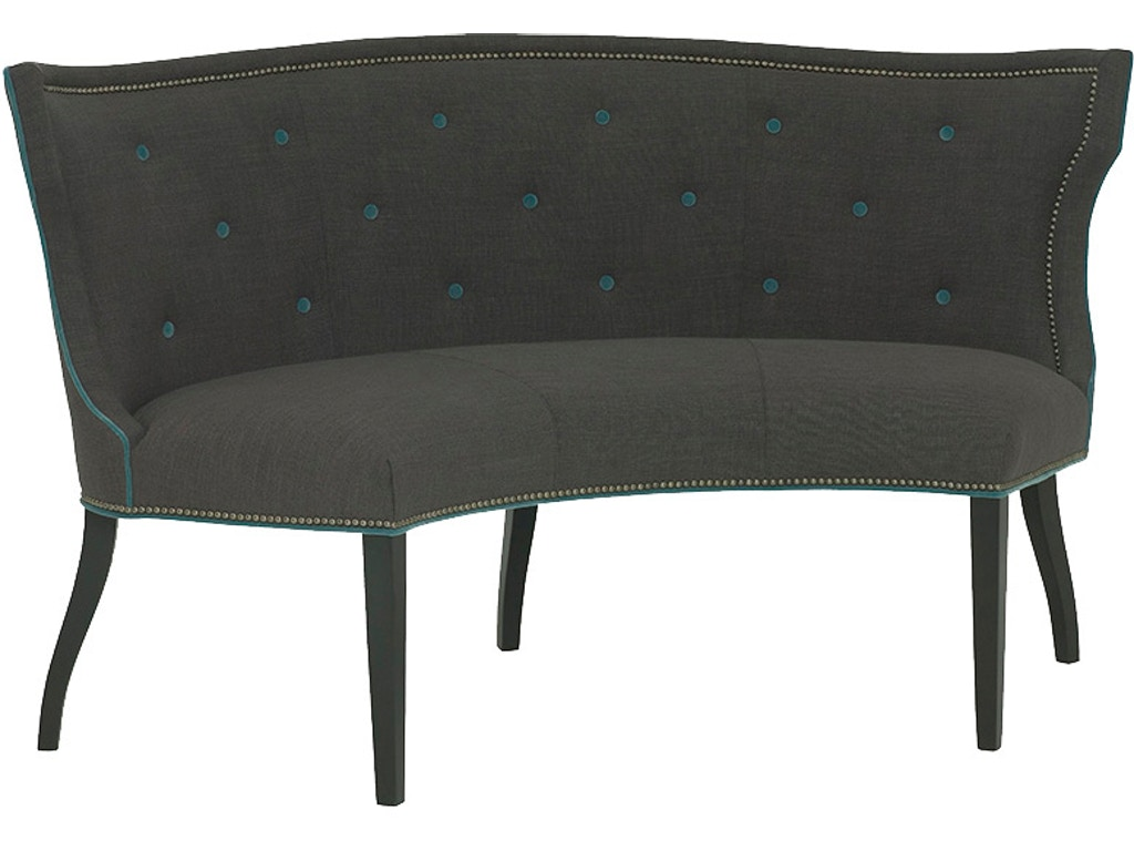 Wesley hall dining room hudson curved dining settee 625 65 for Furniture 65