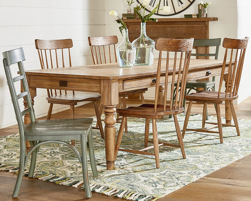 Magnolia Home By Joanna Gaines Dining Room Table, Dining, Taper Turned 7  Ft., Top 2010203I At Scholet Furniture