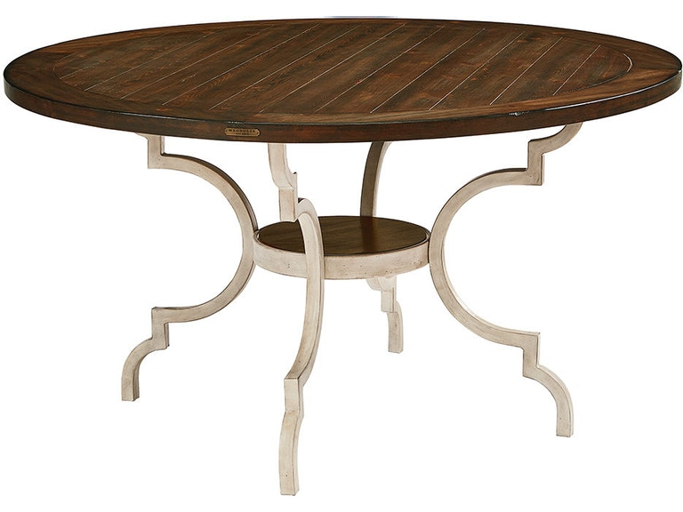 Magnolia Home By Joanna Gaines Dining Room Table Breakfast Wood Top W Metal Base 3010101N At Lastick Furniture