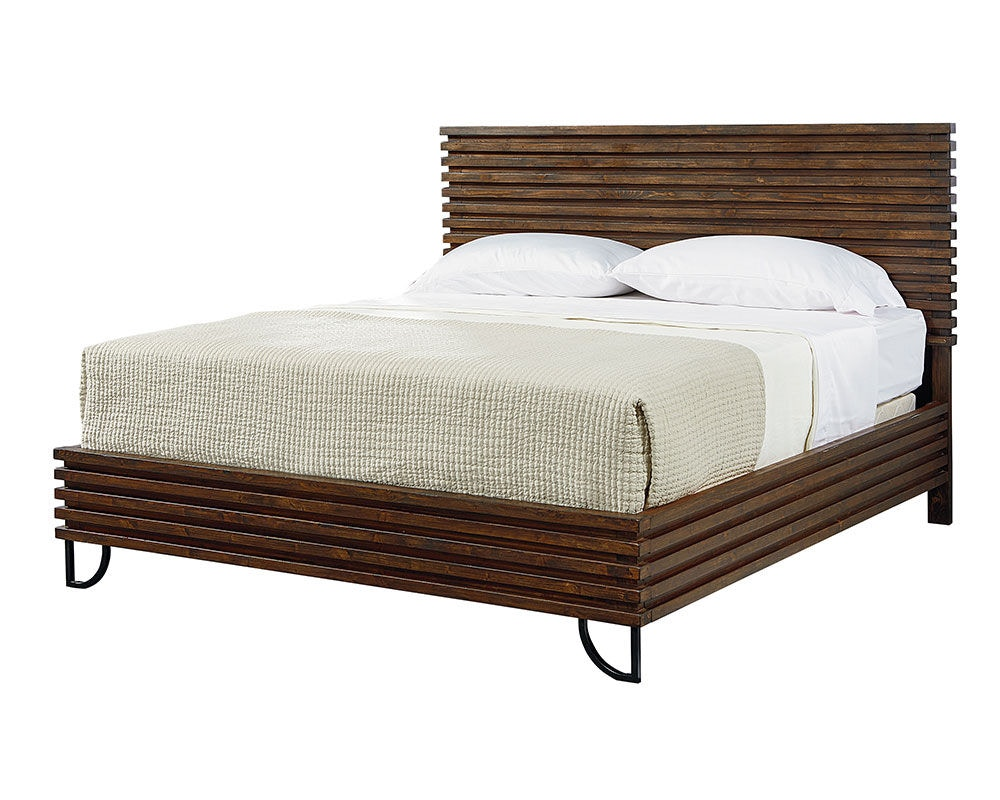 Magnolia Home By Joanna Gaines Bedroom Footboard, 6/6 W/Slats Stacked Slat  5070113N At Priba Furniture And Interiors