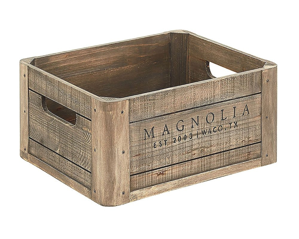 Magnolia Home By Joanna Gaines Wood Crate W/Magnolia Logo 90902008