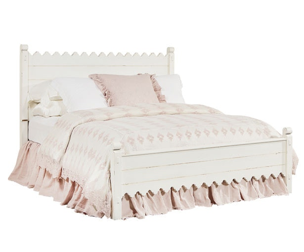 Magnolia Home by Joanna Gaines Bedroom Scallop California King Bed