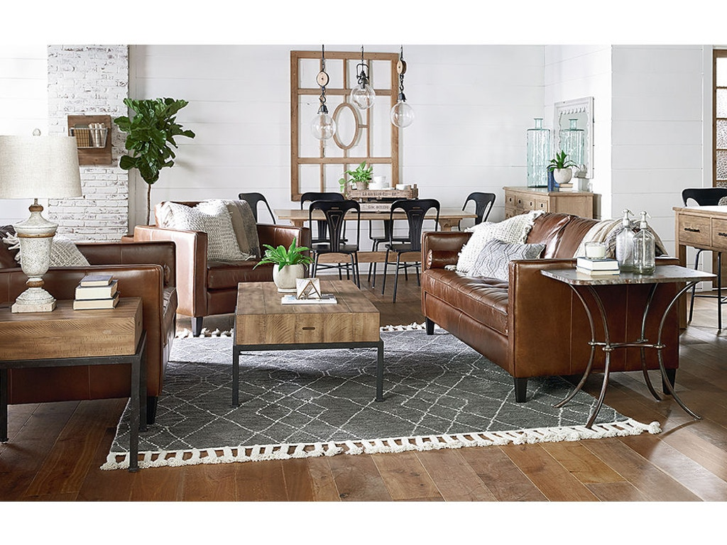 Magnolia Home By Joanna Gaines Dapper Sofa Coffee Leather 55520302