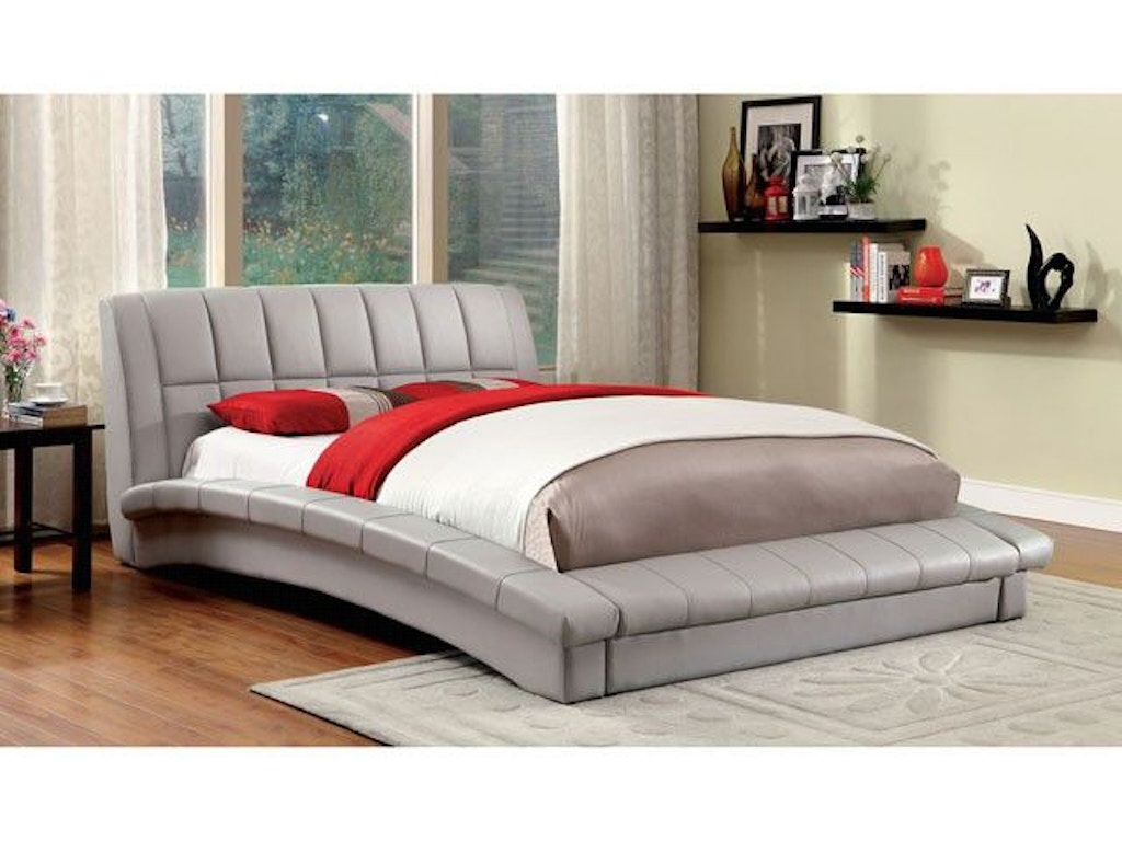 Furniture of America Queen Bed CM7604GY-Q-BED