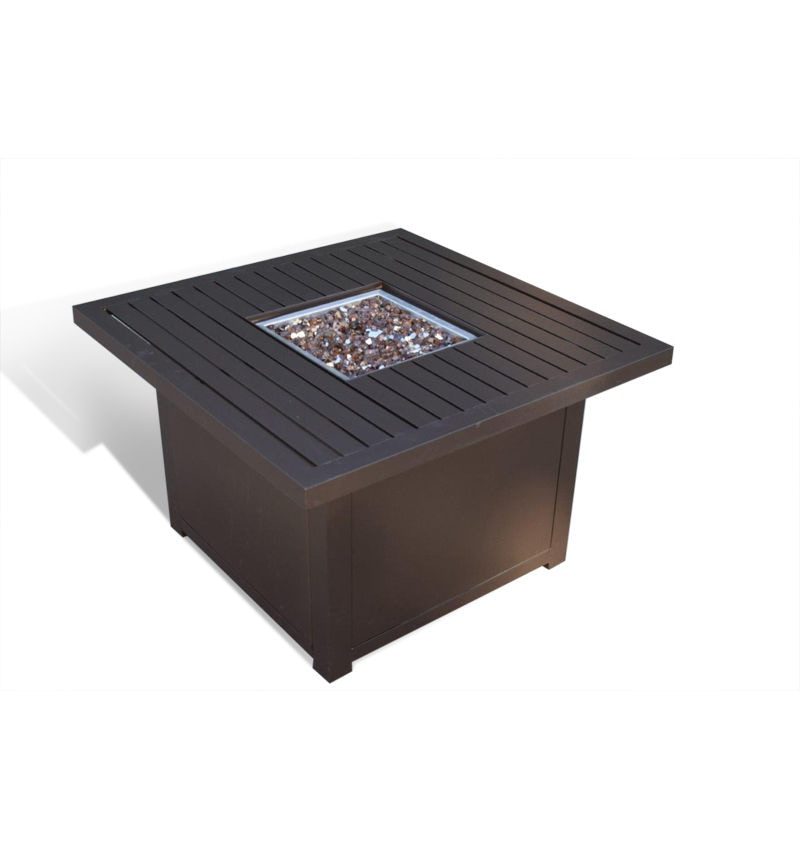 Outdoor/Patio Slat Top Firepit By Elements By Castelle BAYEQFP1010G31   Patios  USA   USA Questions? Call 888.643.6003