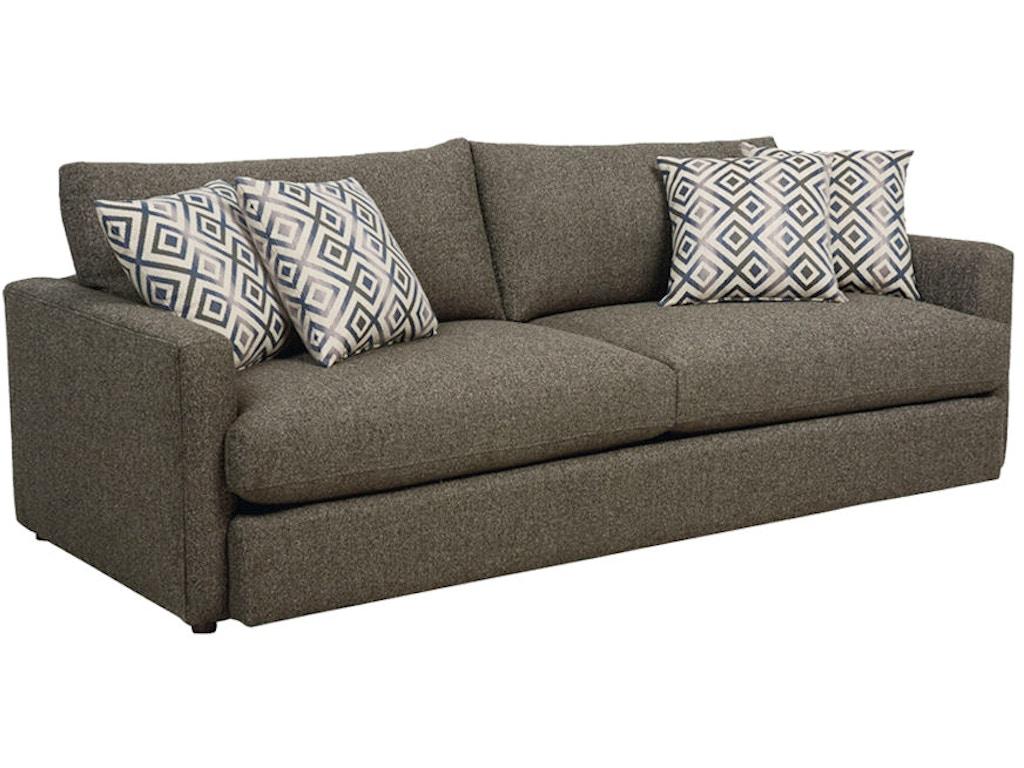 Bassett living room sofa 2611 62 eller and owens for Sofa eller couch
