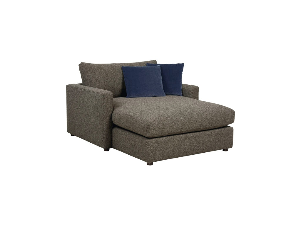 Bassett living room two arm chaise 2611 cl cozy living for Bassett sectional sofa with chaise