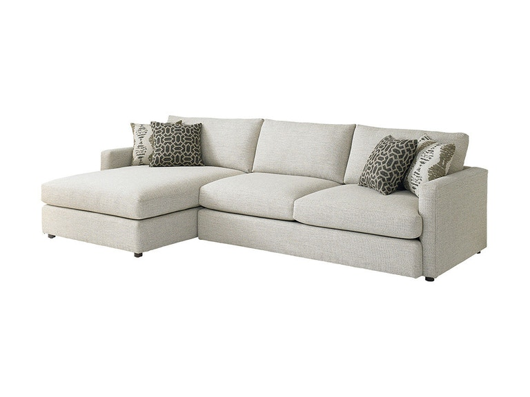 Bassett allure left chaise sectional 2611 lcsectfc for Bassett sectional sofa with chaise
