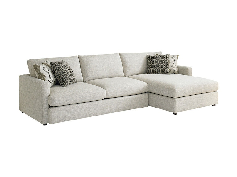 Bassett living room right chaise sectional 2611 rcsect for Bassett sectional sofa with chaise