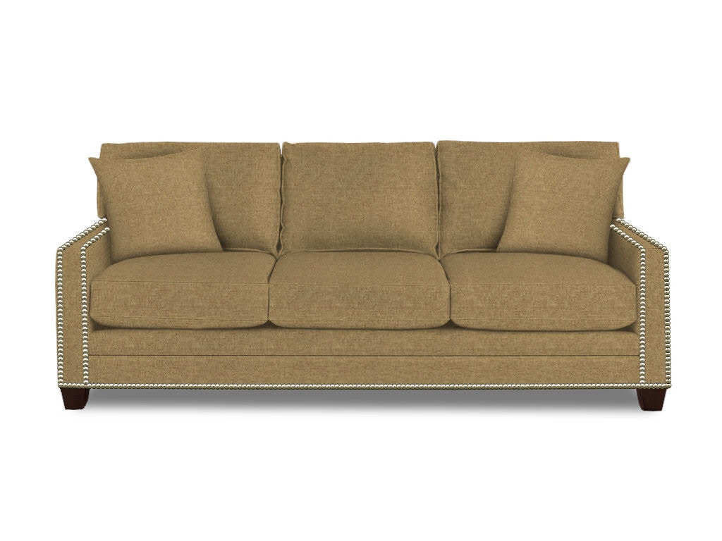 Bassett living room great room sofa 3105 82 sides for Great room sectional