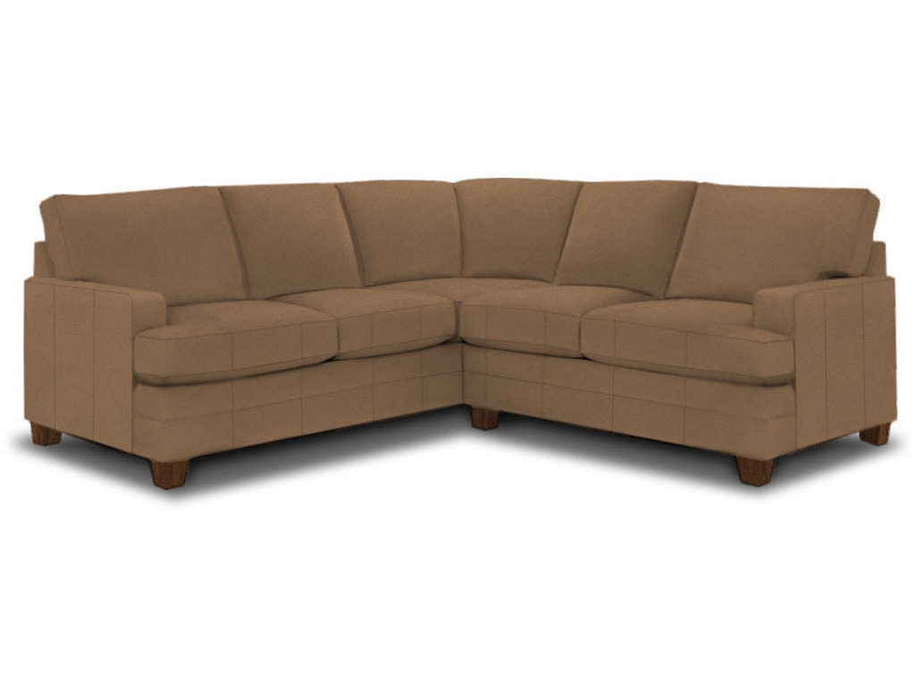 Bassett Living Room L Shaped Sectional 3849 Lsectl Signature Furniture Lexington Ky