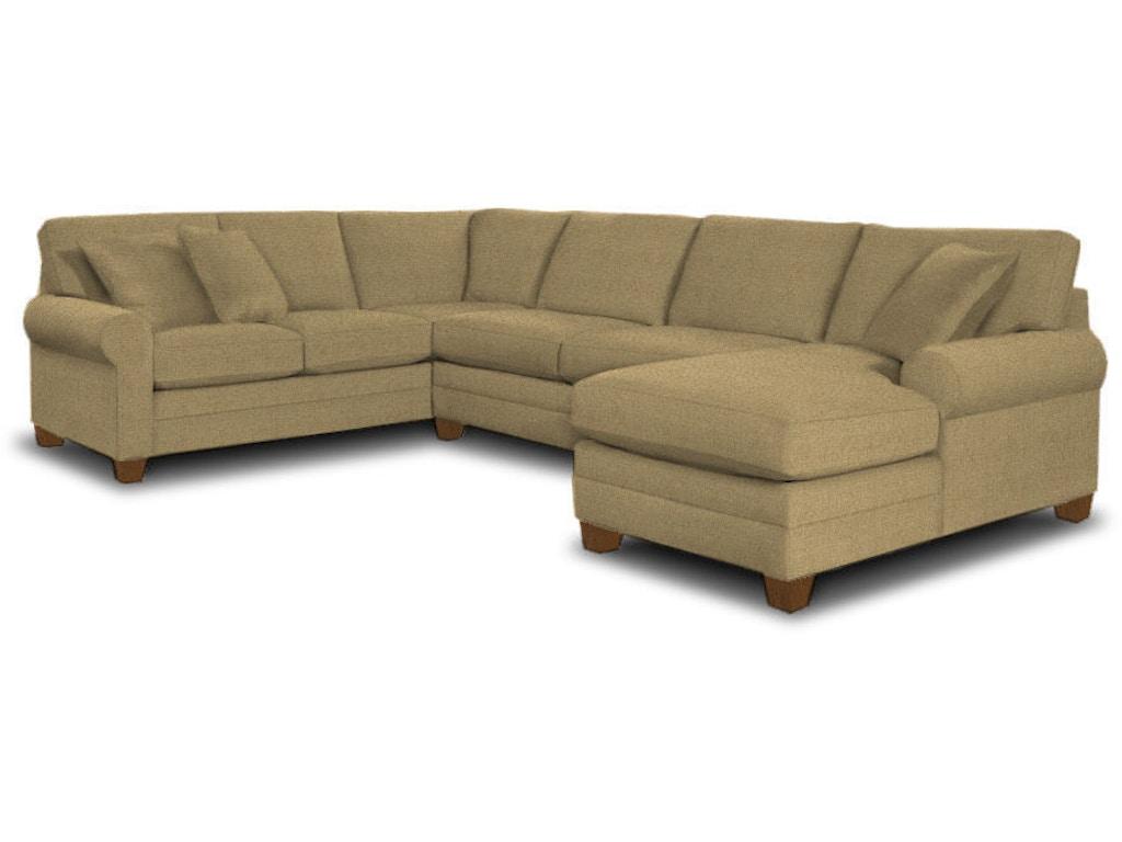 Bassett Living Room U Shaped Sectional 3851 Usect Kiser Furniture Abingdon Va