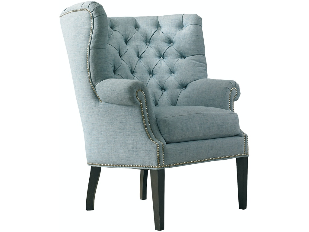 Sherrill living room wing chair 1687 pala brothers for Wing chairs for living room
