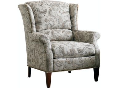 Sherrill Living Room Wing Chair With Exposed Wood Legs 1783 ...