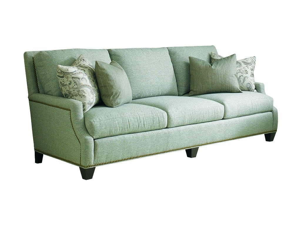 Sherrill Three Cushion Sofa Loose Seat Cushion Semi Attached Back Cushion  2368