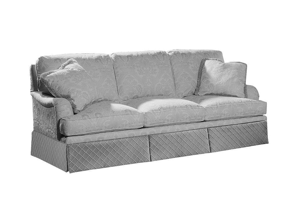 Sherrill Living Room Semi Attached Back Three Cushion Sofa