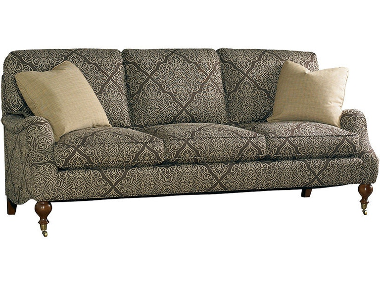 Sherrill Sofa With Exposed Wood Legs Ferrules And Casters 3120 3