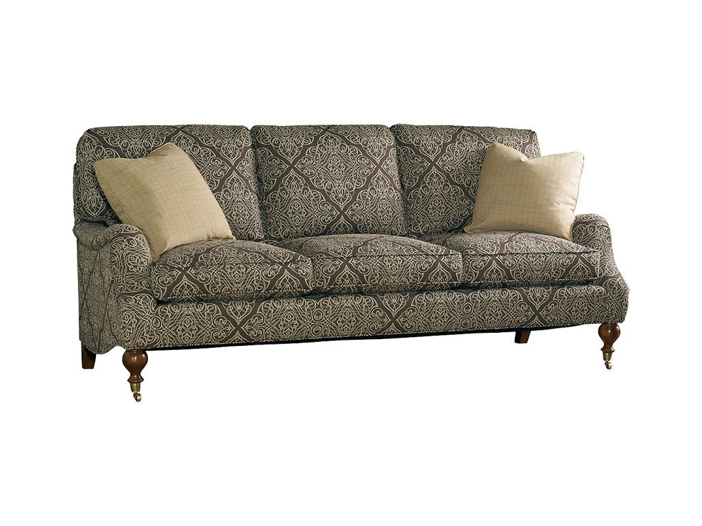 Superbe Sherrill Living Room Sofa With Exposed Wood Legs With Ferrules And Casters  3120 3 At Sherrill Furniture