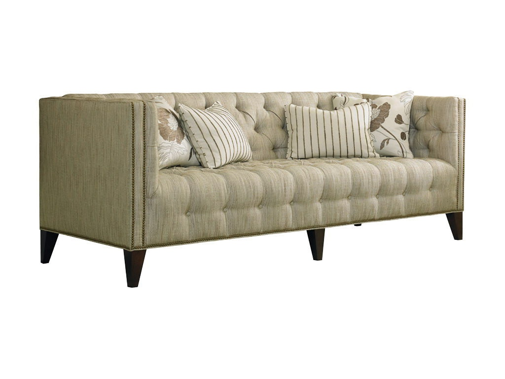 Sherrill Living Room Tufted Sofa With Nail Trim