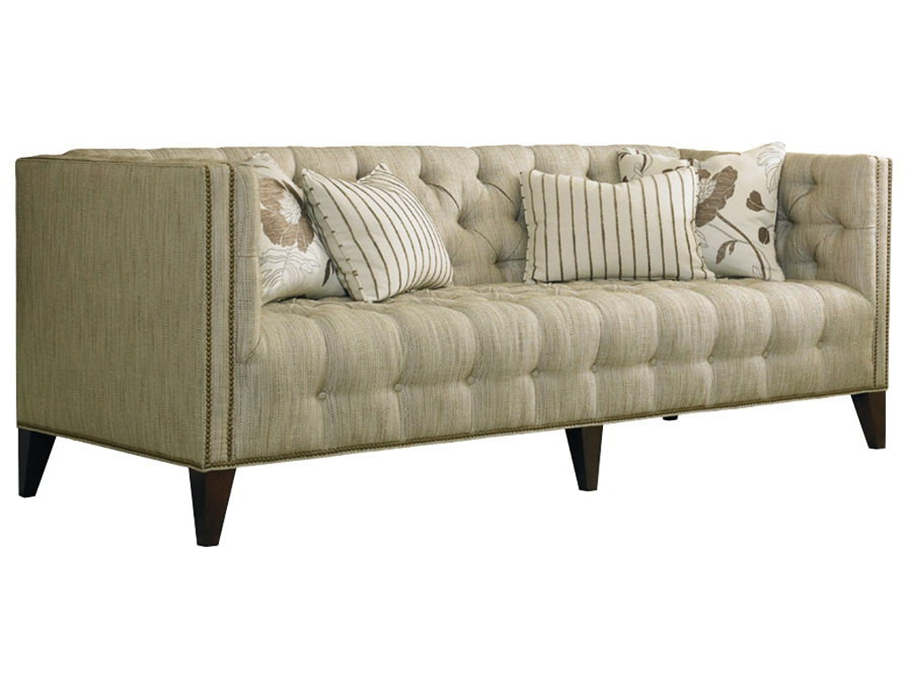 Sherrill living room tufted sofa with nail trim 3250 for Tufted sectional sofa canada