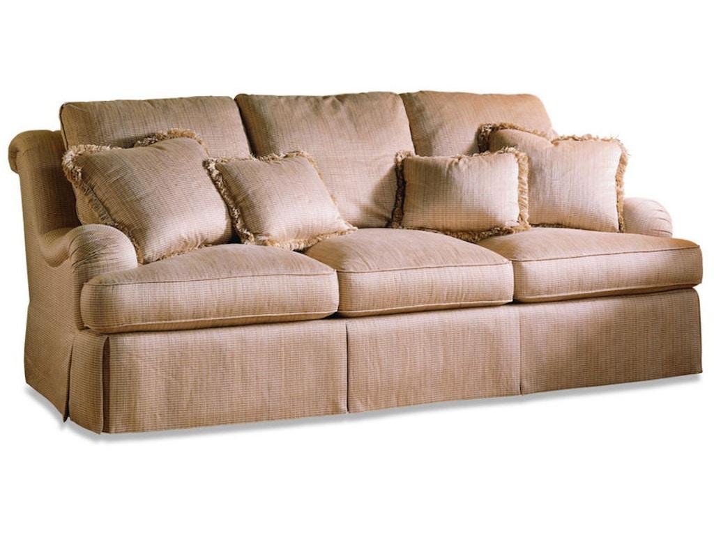 Sherrill furniture living room three cushion sofa 3347 for Sherrill furniture