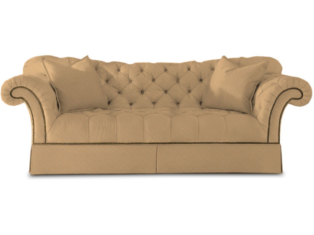 Sherrill living room tufted sofa 5250 mcarthur furniture for Tufted sectional sofa canada