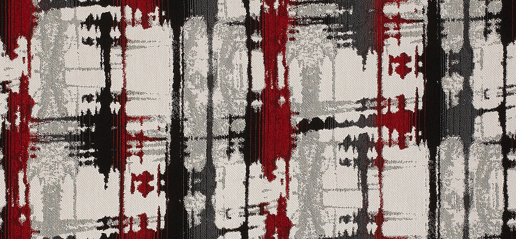 BROWN /& BLACK BOUCLE FABRIC AVAILABLE IN RED