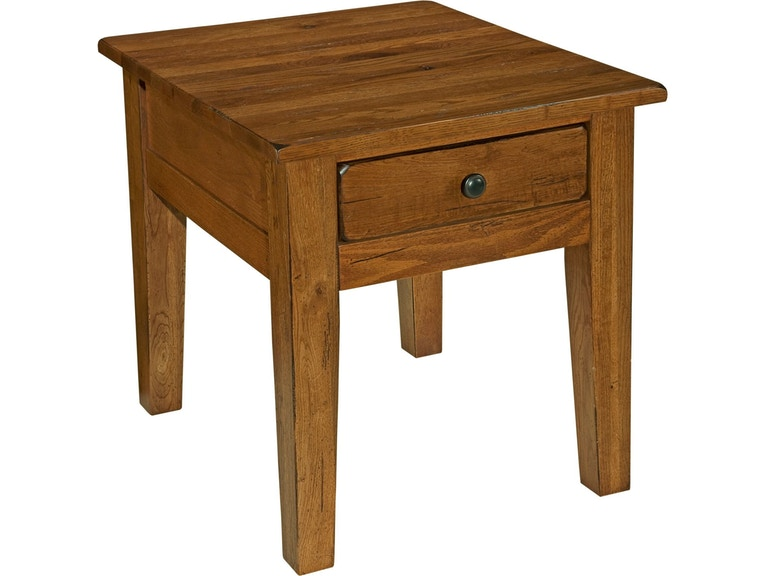 Broyhill Living Room Attic Heirlooms End Table Rustic Oak 3399 02v