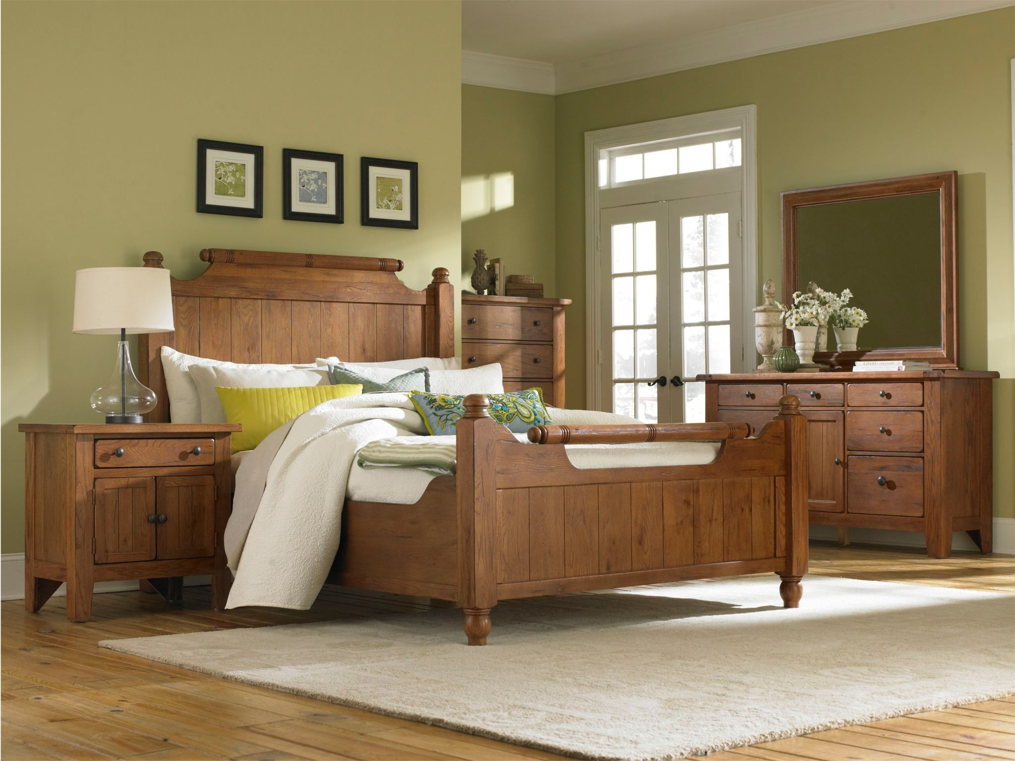 Broyhill Bedroom Attic Heirlooms Wood Hook On Rails, Rustic Oak Stain,  Queen/King 4399 570 At Siker Furniture