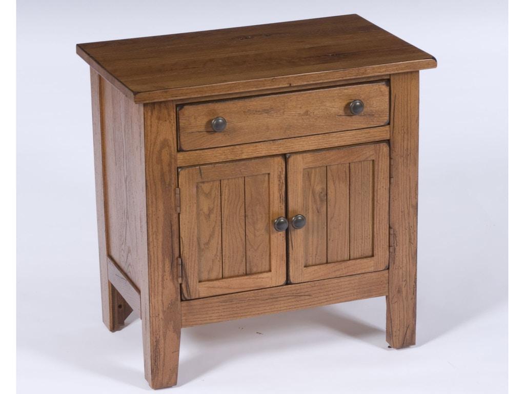 Broyhill bedroom attic heirlooms door nightstand rustic for Furniture for attics