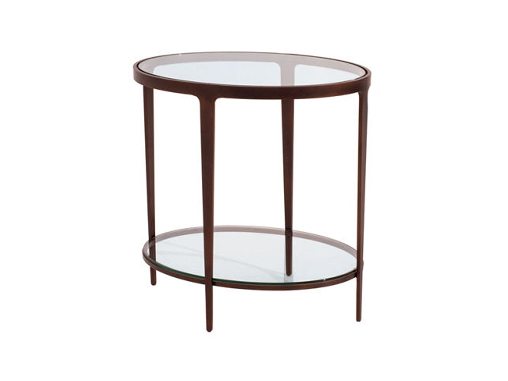 charleston forge living room ellipse end table 6103
