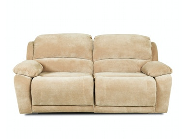 Klaussner Living Room Charmed Reclining Sofa w/Lthr