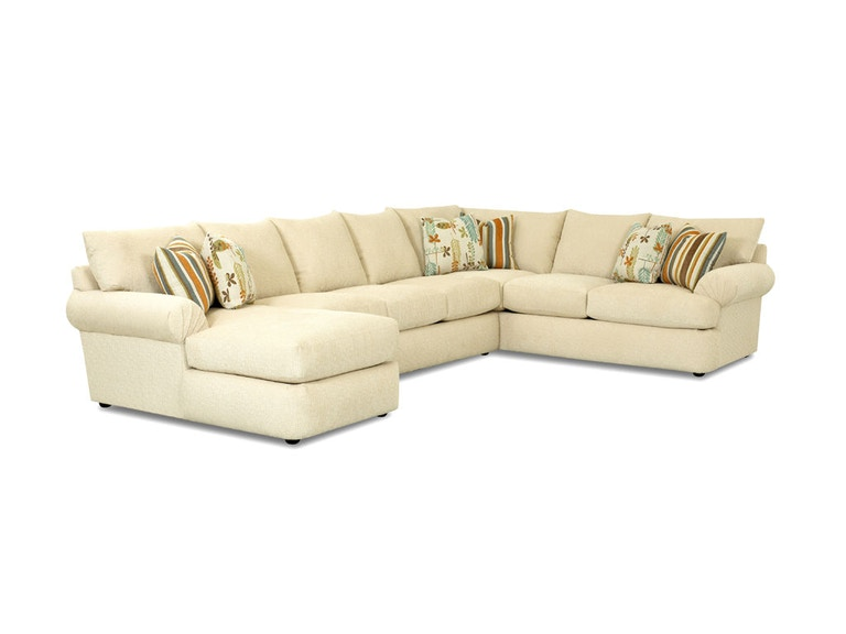 Klaussner Samantha Sectional 36840-FAB-SECT