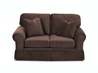 Klaussner Living Room Woodwin Loveseat