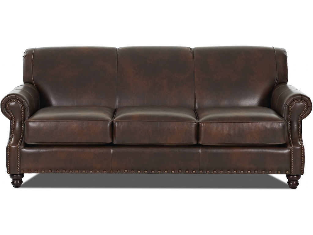 Simple elegance fremont leather sofa 567890 talsma for Leather sofa michigan