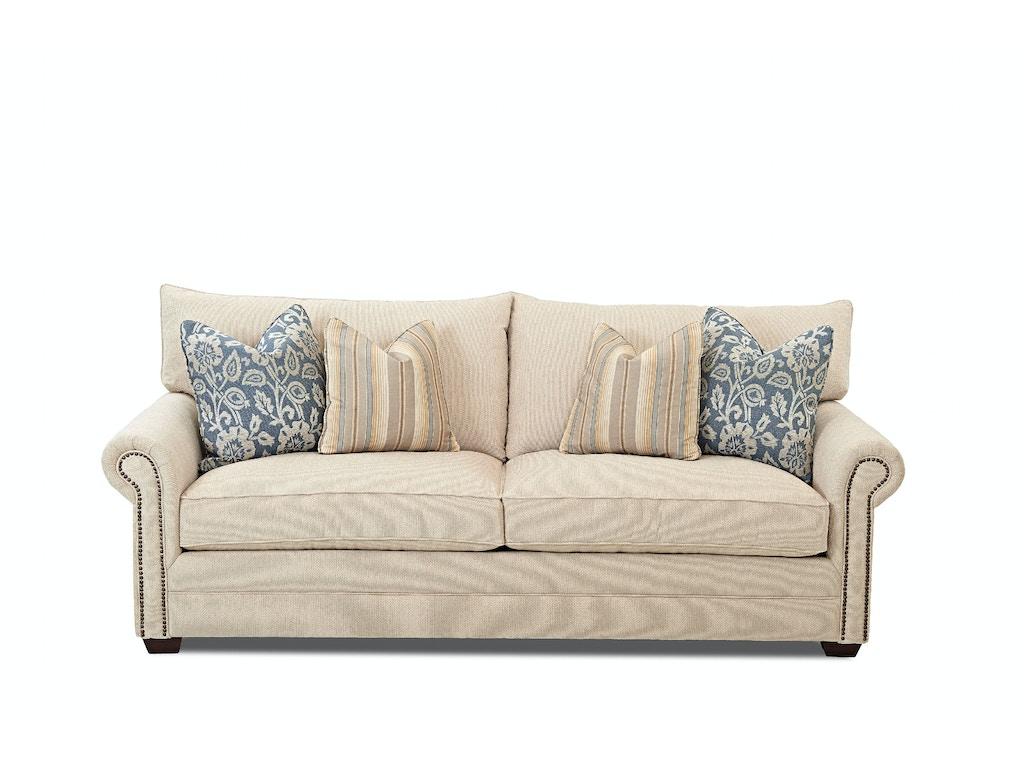 Klaussner Living Room Huntley Sofa D41610 S Hanks Fine Furniture Bentonville Ar Conway Ar