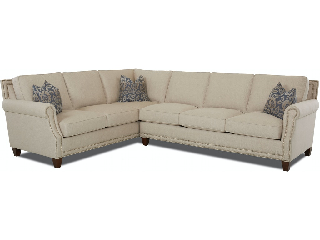 Klaussner Living Room York Sectional D58710 Sect Moores